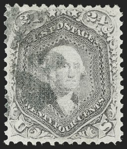 Sale Number 1197, Lot Number 1708, 1867-68 Grilled Issue (Scott 79-101)24c Gray Lilac, F. Grill (99), 24c Gray Lilac, F. Grill (99)