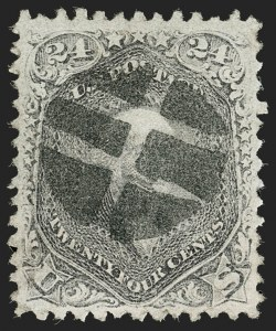 Sale Number 1197, Lot Number 1709, 1867-68 Grilled Issue (Scott 79-101)24c Gray Lilac, F. Grill (99), 24c Gray Lilac, F. Grill (99)