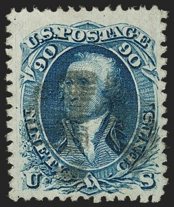 Sale Number 1197, Lot Number 1711, 1867-68 Grilled Issue (Scott 79-101)90c Blue, F. Grill (101), 90c Blue, F. Grill (101)
