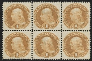 Sale Number 1197, Lot Number 1714, 1c-10c 1869 Pictorial Issue (Scott 112-116)1c Buff (112), 1c Buff (112)
