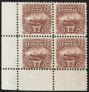 "Sale Number 1197, Lot Number 1732, 12c ""Adriatic"" 1869 Pictorial Issue, Essays & Proofs (Scott 117-E, 117P)12c Small Numeral, Plate Essay on Stamp Paper, Perforated 12 (117-E2e, formerly 117-E1e), 12c Small Numeral, Plate Essay on Stamp Paper, Perforated 12 (117-E2e, formerly 117-E1e)"