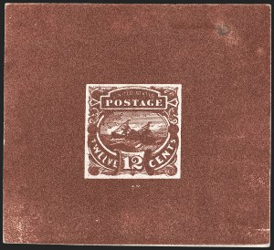 "Sale Number 1197, Lot Number 1736, 12c ""Adriatic"" 1869 Pictorial Issue, Essays & Proofs (Scott 117-E, 117P)12c Red Brown, Typographed Small Numeral Die Essay on Card (117-E3a), 12c Red Brown, Typographed Small Numeral Die Essay on Card (117-E3a)"