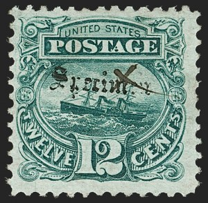 "Sale Number 1197, Lot Number 1746, 12c ""Adriatic"" 1869 Pictorial Issue, Essays & Proofs (Scott 117-E, 117P)12c Green, ""Specimen"" Overprint., Ty. A (117SA), 12c Green, ""Specimen"" Overprint., Ty. A (117SA)"