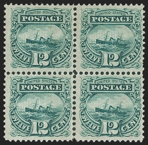 "Sale Number 1197, Lot Number 1748, 12c ""Adriatic"" 1869 Pictorial Issue, Stamps (Scott 117)12c Green (117), 12c Green (117)"