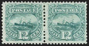 "Sale Number 1197, Lot Number 1749, 12c ""Adriatic"" 1869 Pictorial Issue, Stamps (Scott 117)12c Green (117), 12c Green (117)"