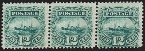 "Sale Number 1197, Lot Number 1750, 12c ""Adriatic"" 1869 Pictorial Issue, Stamps (Scott 117)12c Green (117), 12c Green (117)"