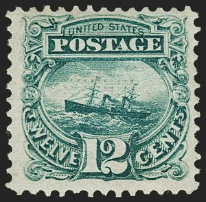 "Sale Number 1197, Lot Number 1752, 12c ""Adriatic"" 1869 Pictorial Issue, Stamps (Scott 117)12c Green (117), 12c Green (117)"