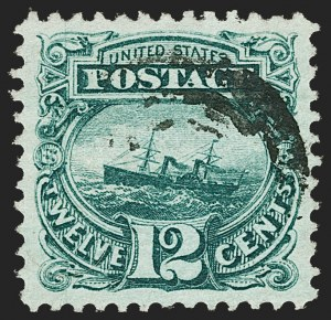 "Sale Number 1197, Lot Number 1754, 12c ""Adriatic"" 1869 Pictorial Issue, Stamps (Scott 117)12c Green (117), 12c Green (117)"