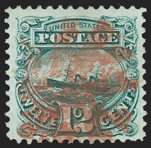 "Sale Number 1197, Lot Number 1762, 12c ""Adriatic"" 1869 Pictorial Issue, Stamps (Scott 117)12c Green (117), 12c Green (117)"
