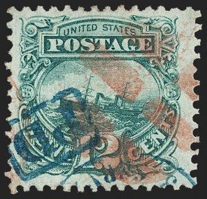 "Sale Number 1197, Lot Number 1763, 12c ""Adriatic"" 1869 Pictorial Issue, Stamps (Scott 117)12c Green (117), 12c Green (117)"