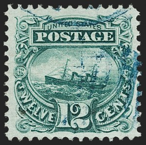 "Sale Number 1197, Lot Number 1764, 12c ""Adriatic"" 1869 Pictorial Issue, Stamps (Scott 117)12c Green (117), 12c Green (117)"