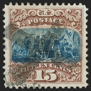 Sale Number 1197, Lot Number 1766, 15c-90c 1869 Pictorial Issue (Scott 118-122)15c Brown & Blue, Ty. I (118), 15c Brown & Blue, Ty. I (118)