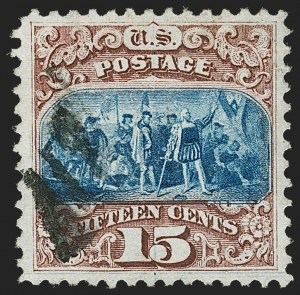 Sale Number 1197, Lot Number 1767, 15c-90c 1869 Pictorial Issue (Scott 118-122)15c Brown & Blue, Ty. I (118), 15c Brown & Blue, Ty. I (118)
