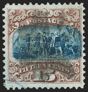 Sale Number 1197, Lot Number 1768, 15c-90c 1869 Pictorial Issue (Scott 118-122)15c Brown & Blue, Ty. I (118), 15c Brown & Blue, Ty. I (118)