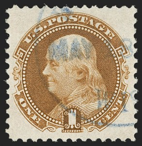 Sale Number 1197, Lot Number 1775, 1875 Re-Issue of 1869 Pictorial Issue (Scott 123-133a)1c Buff, Re-Issue (123), 1c Buff, Re-Issue (123)