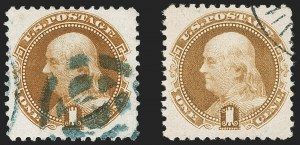 Sale Number 1197, Lot Number 1776, 1875 Re-Issue of 1869 Pictorial Issue (Scott 123-133a)1c Buff, 1875 and 1880 Re-Issues (123, 133), 1c Buff, 1875 and 1880 Re-Issues (123, 133)