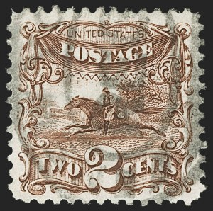 Sale Number 1197, Lot Number 1778, 1875 Re-Issue of 1869 Pictorial Issue (Scott 123-133a)2c Brown, Re-Issue (124), 2c Brown, Re-Issue (124)