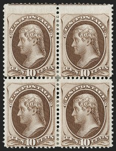 Sale Number 1197, Lot Number 1791, 1870-71 National Bank Note Co. Issue (Scott 134-155)10c Brown, H. Grill (139), 10c Brown, H. Grill (139)