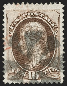 Sale Number 1197, Lot Number 1792, 1870-71 National Bank Note Co. Issue (Scott 134-155)10c Brown, H. Grill (139), 10c Brown, H. Grill (139)