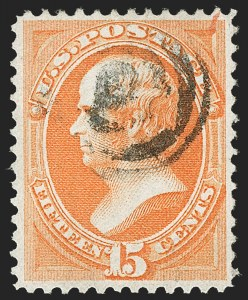 Sale Number 1197, Lot Number 1794, 1870-71 National Bank Note Co. Issue (Scott 134-155)15c Orange, H. Grill (141), 15c Orange, H. Grill (141)