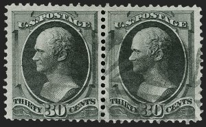 Sale Number 1197, Lot Number 1797, 1870-71 National Bank Note Co. Issue (Scott 134-155)30c Black (154), 30c Black (154)