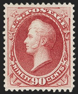 Sale Number 1197, Lot Number 1798, 1870-71 National Bank Note Co. Issue (Scott 134-155)90c Carmine (155), 90c Carmine (155)