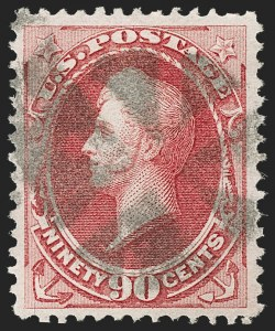 Sale Number 1197, Lot Number 1799, 1870-71 National Bank Note Co. Issue (Scott 134-155)90c Carmine (155), 90c Carmine (155)