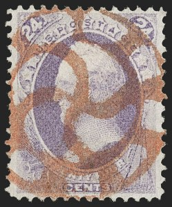 Sale Number 1197, Lot Number 1800, 1870-71 National Bank Note Co. Issue (Scott 134-155)New York Foreign Mail Cancels on Bank Note Stamps, New York Foreign Mail Cancels on Bank Note Stamps