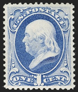 Sale Number 1197, Lot Number 1801, 1873-75 Continental Bank Note Co. Issue (Scott 156-166, 178-179)1c Ultramarine (156), 1c Ultramarine (156)