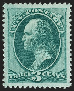 Sale Number 1197, Lot Number 1804, 1873-75 Continental Bank Note Co. Issue (Scott 156-166, 178-179)3c Green (158), 3c Green (158)