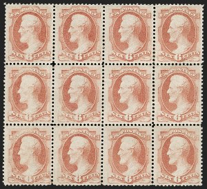 Sale Number 1197, Lot Number 1806, 1873-75 Continental Bank Note Co. Issue (Scott 156-166, 178-179)6c Dull Pink (159), 6c Dull Pink (159)