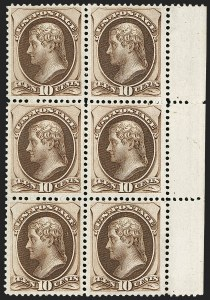 Sale Number 1197, Lot Number 1809, 1873-75 Continental Bank Note Co. Issue (Scott 156-166, 178-179)10c Brown (161), 10c Brown (161)
