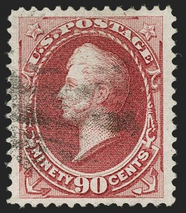 Sale Number 1197, Lot Number 1811, 1873-75 Continental Bank Note Co. Issue (Scott 156-166, 178-179)90c Rose Carmine (166), 90c Rose Carmine (166)