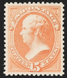 Sale Number 1197, Lot Number 1818, 1879 American Bank Note Co. Issue & 1880 Special Printing (Scott 182-199)15c Red Orange (189), 15c Red Orange (189)