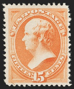 Sale Number 1197, Lot Number 1822, 1879 American Bank Note Co. Issue & 1880 Special Printing (Scott 182-199)15c Orange, Special Printing (199), 15c Orange, Special Printing (199)