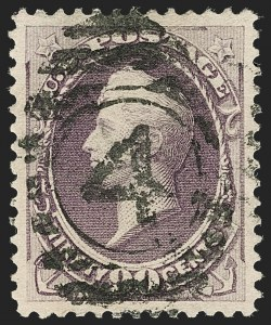 Sale Number 1197, Lot Number 1826, 1881-93 American Bank Note Co. Issues (Scott 205-229)90c Purple (218), 90c Purple (218)