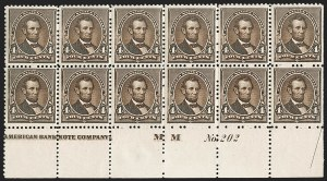 Sale Number 1197, Lot Number 1827, 1881-93 American Bank Note Co. Issues (Scott 205-229)4c Dark Brown (222), 4c Dark Brown (222)