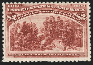 Sale Number 1197, Lot Number 1838, 1893 Columbian Issue (Scott 230-245)$2.00 Columbian (242), $2.00 Columbian (242)