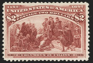 Sale Number 1197, Lot Number 1839, 1893 Columbian Issue (Scott 230-245)$2.00 Columbian (242), $2.00 Columbian (242)