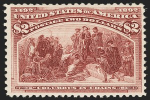 Sale Number 1197, Lot Number 1840, 1893 Columbian Issue (Scott 230-245)$2.00 Columbian (242), $2.00 Columbian (242)
