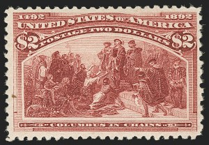 Sale Number 1197, Lot Number 1841, 1893 Columbian Issue (Scott 230-245)$2.00 Columbian (242), $2.00 Columbian (242)