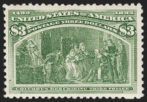 Sale Number 1197, Lot Number 1845, 1893 Columbian Issue (Scott 230-245)$3.00 Columbian (243), $3.00 Columbian (243)