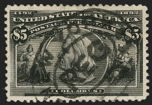 Sale Number 1197, Lot Number 1858, 1893 Columbian Issue (Scott 230-245)$5.00 Columbian (245), $5.00 Columbian (245)