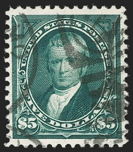 Sale Number 1197, Lot Number 1879, 1894-1903 Bureau Issues (Scott 246-284)$5.00 Dark Green (278), $5.00 Dark Green (278)