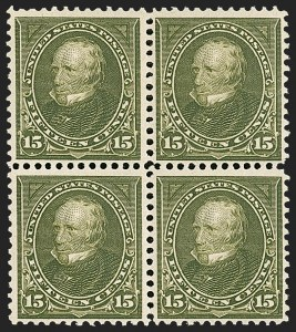 Sale Number 1197, Lot Number 1881, 1894-1903 Bureau Issues (Scott 246-284)15c Olive Green (284), 15c Olive Green (284)