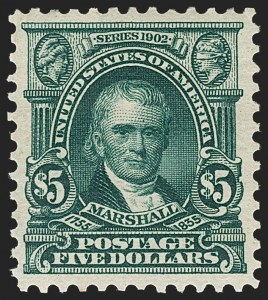 Sale Number 1197, Lot Number 1904, 1901 Pan-American and 1902-08 Issues (Scott 294-320)$5.00 Dark Green (313), $5.00 Dark Green (313)