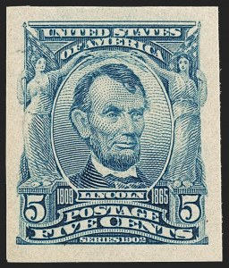Sale Number 1197, Lot Number 1909, 1901 Pan-American and 1902-08 Issues (Scott 294-320)5c Blue, Imperforate (315), 5c Blue, Imperforate (315)