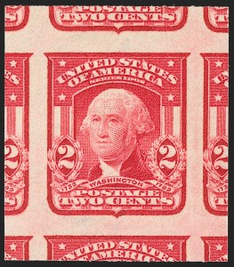 Sale Number 1197, Lot Number 1915, 1901 Pan-American and 1902-08 Issues (Scott 294-320)2c Carmine, Ty. I, Imperforate (320), 2c Carmine, Ty. I, Imperforate (320)