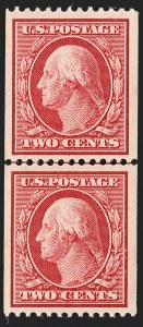 Sale Number 1197, Lot Number 1922, 1908-13 Washington-Franklin Issues (Scott 331-396)2c Carmine, Coil (349), 2c Carmine, Coil (349)