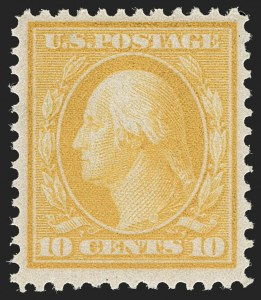 Sale Number 1197, Lot Number 1931, 1908-13 Washington-Franklin Issues (Scott 331-396)10c Yellow, Bluish (364), 10c Yellow, Bluish (364)